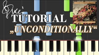 Katy Perry - Unconditionally (piano tutorial & MIDI)