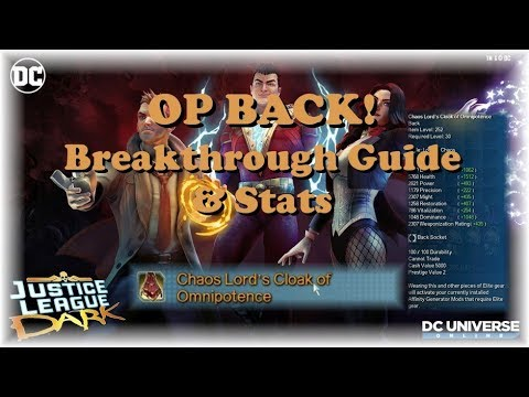 OP Back Breakthrough Guide and Stats! It's OP |