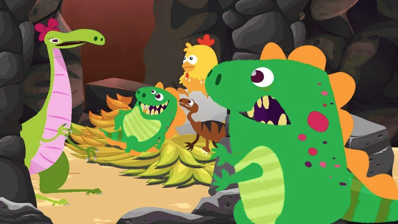 Dino E Dina Dinossauros E A Historia De Ninar Desenho Animado