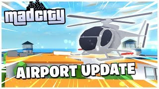 Roblox MADCITY Live! 🔴NEW Airport UPDATE! ✈️| JETPACKS! 🎒| Warhawk Jet & Scout Helicopter!| Come join