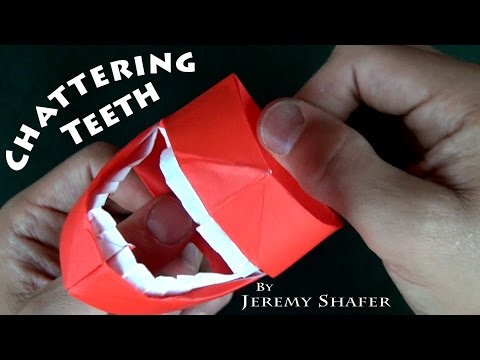 Origami Chattering Teeth No Music Youtube