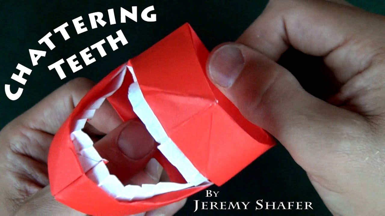 origami chattering teeth youtube