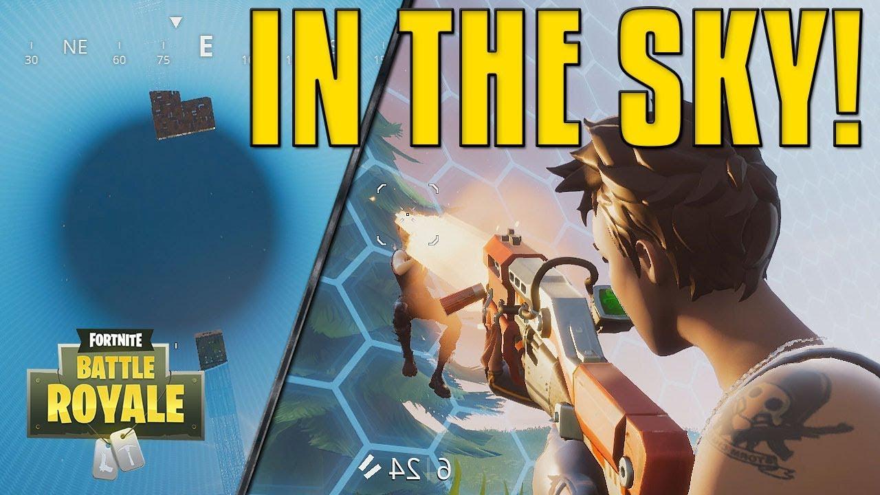 In The Sky Fortnite Battle Royale Youtube