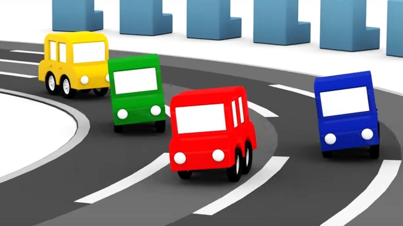 lehrreicher zeichentrickfilm die 4 kleinen autos welches auto ist am schnellsten youtube. Black Bedroom Furniture Sets. Home Design Ideas