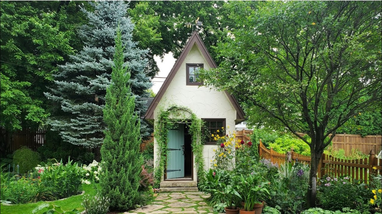 Enchanted Garden Shed and Surrounding Cottage Garden Tour
