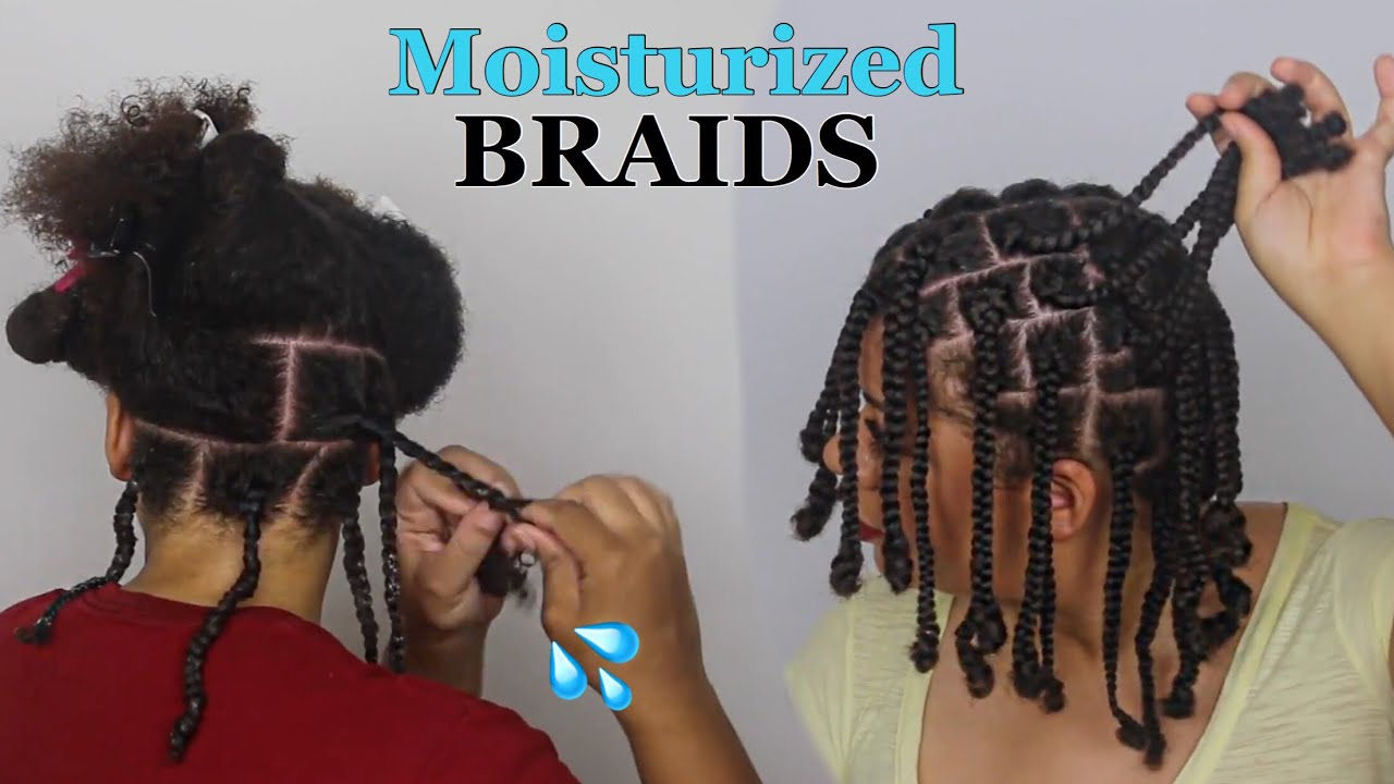 How to Braid Natural Hair Properly As A Protective Style - No Added Hair Needed!