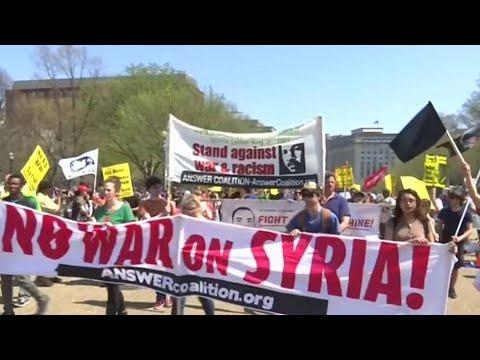 Political fallout following Syria strikes
