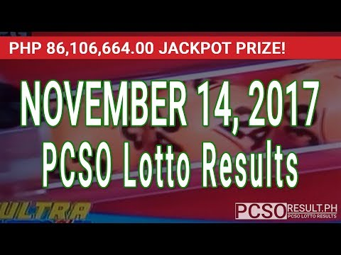 PCSO Lotto Results Today November 14, 2017 (6/58, 6/49, 6/42, 6D, Swertres & EZ2)