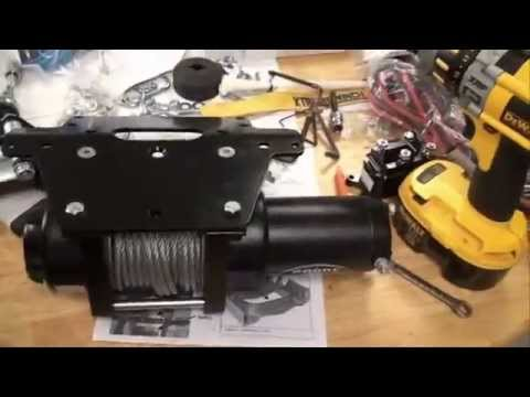 2010 Honda Rancher AT TRX 420 - Xtreme Winch 3000 Install - YouTube