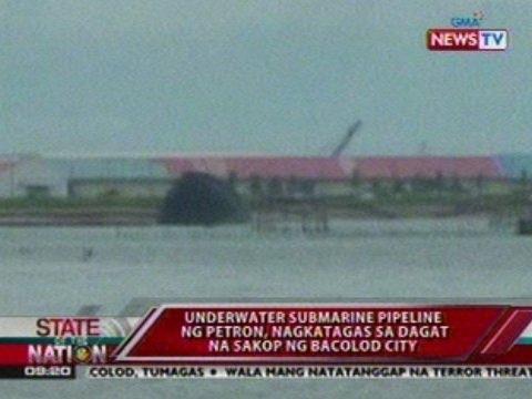 SONA: Underwater submarine pipeline ng Petron, nagkatagas sa dagat na sakop ng Bacolod City