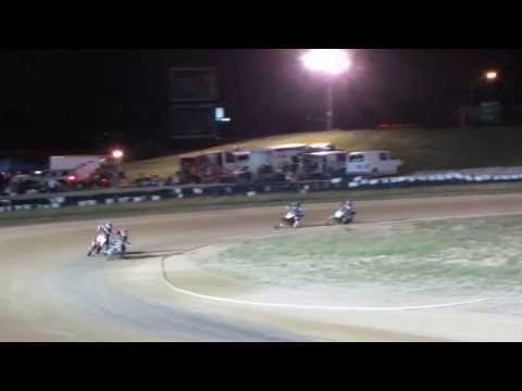 Another camera shot: Motorcycle dirt track race Mid-America Speedway 0-160cc class Aug/10/2013