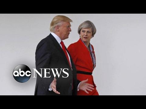Donald Trump Hosts British Leader Theresa May in Washington