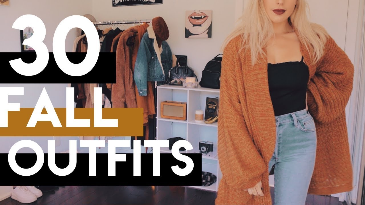 [VIDEO] - 30 Fall Outfits | what's in my closet challenge 7