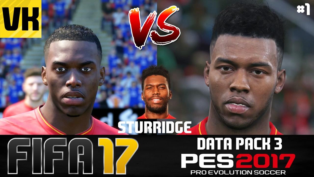 1021f7421da5 FIFA 17 VS PES 2017 DATA PACK 3 PLAYER FACES COMPARISON (Firmino ...