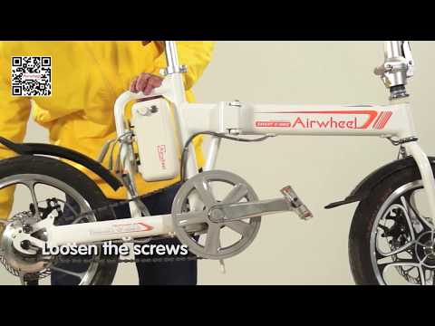 7d630f0b829 To describe how to replace the control board of Airwheel R5 folding e bike  - YouTube