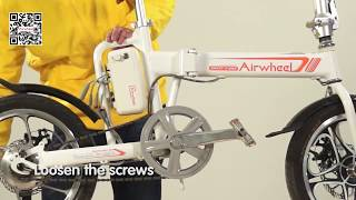 To describe how to replace the control board of Airwheel R5 folding e bike