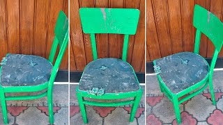 Превратил старый стул в новый, необычный декор стула,  ручная работа
