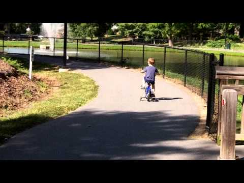 William riding his bike  :)