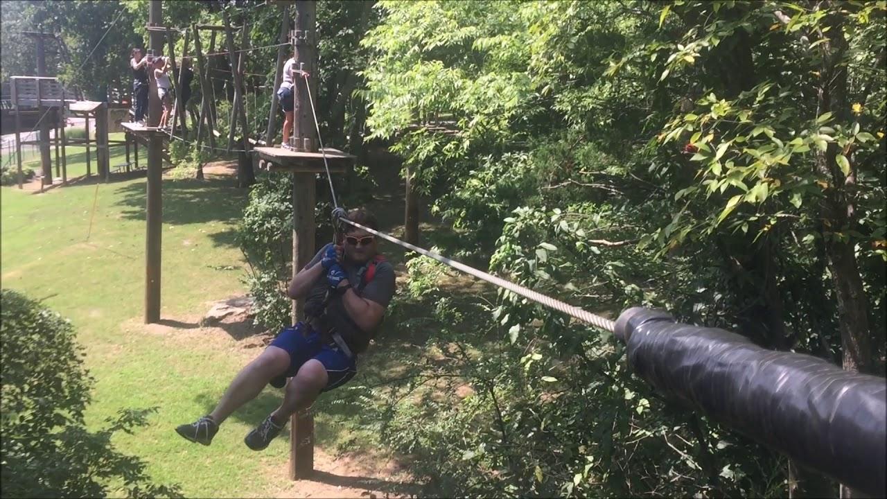 Treetop Adventure Park At Nashville Shores Youtube