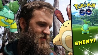 "SO MANY SHINY TURTWIG + A SNEAKY SHINY! (POKEMON GO COMMUNITY DAY) Feat. ""Homeless Looking Freak"""