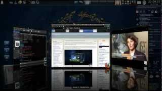 ubuntu Linux 3D desktop effects (KDE & Compiz Fusion & CairoDock) fullHD 1080p