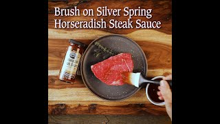 Grilled Steak Bites with Silver Spring Horseradish Steak Sauce