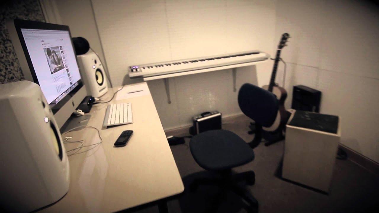 bedroom studio - diy record room - youtube