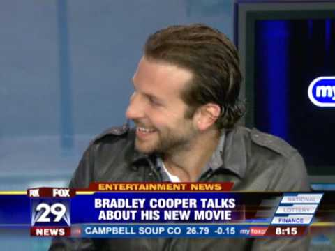 Bradley Cooper on Philadelphia TV talking about latest movies and being from Jenkintown PA.