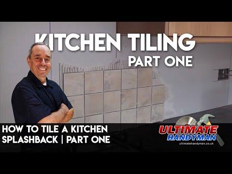 How to tile a kitchen splashback part 1