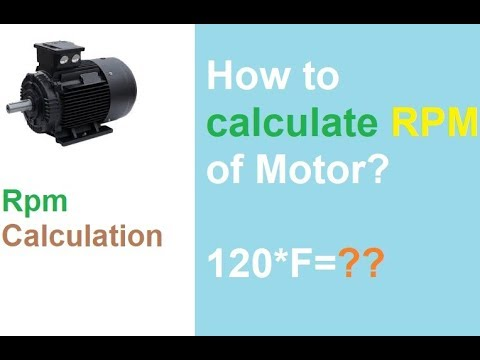 How to calculate RPM of motor