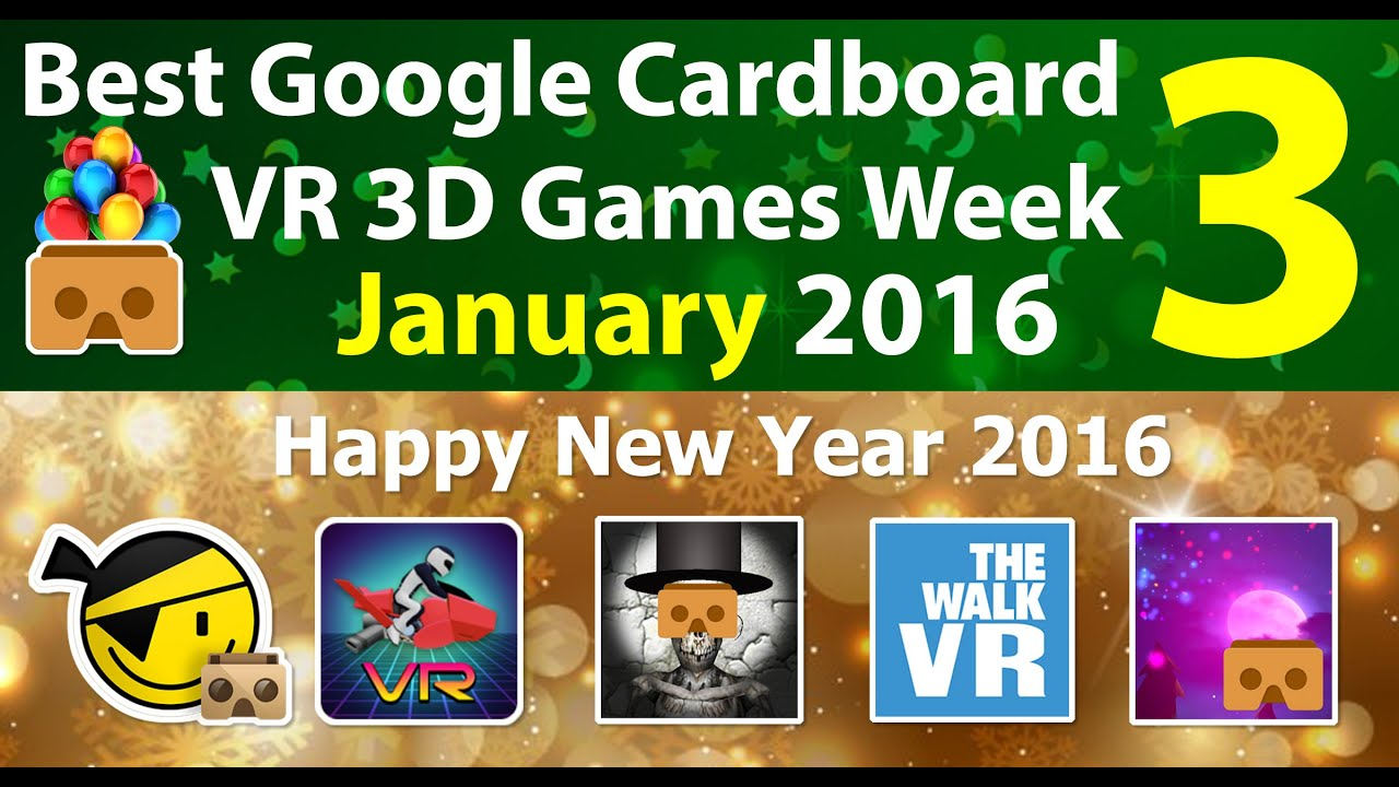 Download Best Google Cardboard VR 3D Games Week 3 January 2016 - Android and iOS