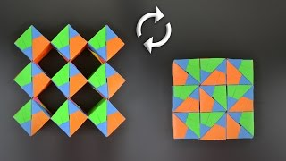 Origami: Moving Cubes (Sonobe 54 units) - Instructions in English (BR)