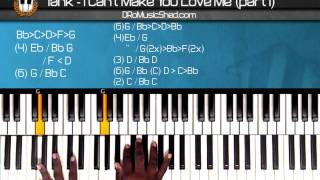 "How to play Tank ""I Cant Make You Love Me"" (Part1) (Piano Tutorial) (Piano Cover)"
