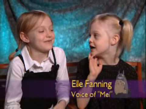 Dakota and Elle Fanning - My Neighbor Totoro