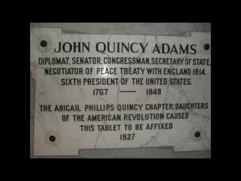 John Quincy Adams Grave + Home