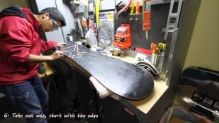 5 Minute Tutorial on Snowboard Waxing and Tuning