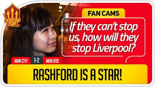 RASHFORD A SUPERSTAR! Manchester City 1-2 Manchester United fan cams