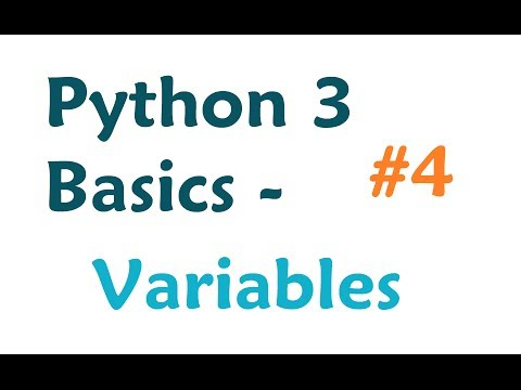Python 3 Programming Tutorial: Variables