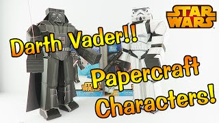 Darth Vader Star Wars Papercraft Blueprints - Unboxing Review and Assembly.