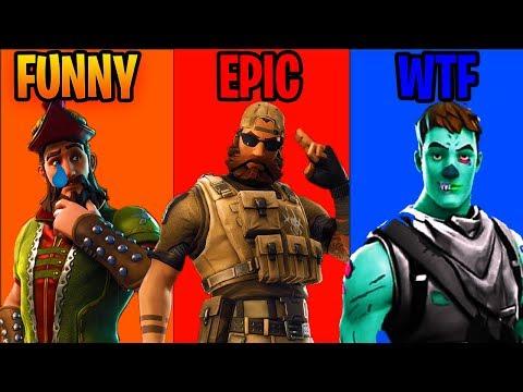 FUNNY Vs EPIC Vs WTF In Fortnite Battle Royale!