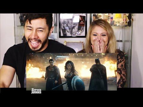 HONEST TRAILERS BATMAN V SUPERMAN reaction by Jaby & Elizabeth Jayne!