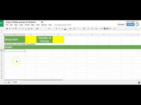 Create Groups Using Google Sheets