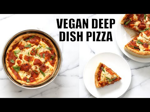 VEGAN DEEP DISH PIZZA WITH 20 MINUTE CRUST | Vegan Richa Recipes