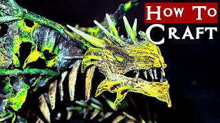 Crafting a Dracolich Miniature - Undead Dragon for D&D