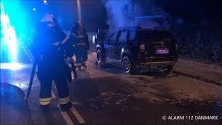 08.08.2019 - Bil gik i brand under kørsel