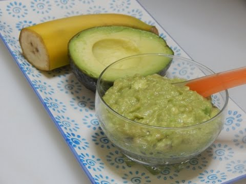 How to Make Baby Food Banana Avocado Puree for Babies l Healthy Baby Food Recipe