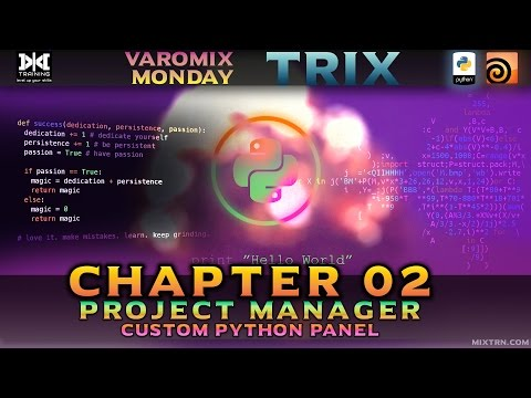 VMT 024 - HOUDINI - Python Project Manager Series Chapter 02