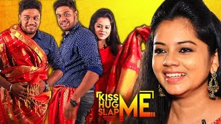 Ultimate Kanchana Saree Task - Anitha Sampath Plays Kiss Me😘 Hug Me🤗 Slap Me👋 | KHS