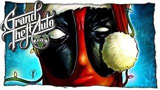 НОВОГОДНИЙ ДЭДПУЛ КАТАЕТСЯ НА СНОУБОРДЕ GTA 5 МОДЫ: Deadpool