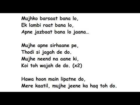 Mujhko Barsaat Bana Lo Full Song Lyrics Movie –  Junooniyat    Armaan Malik Mp3